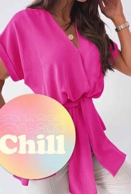 'Isla' wrap blouse