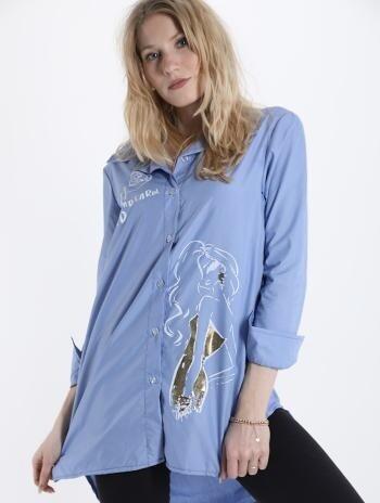 'Sky Blue' Cotton Shirt