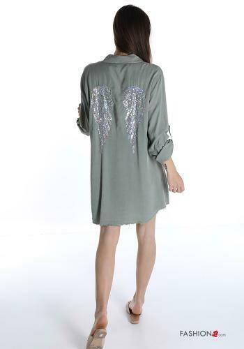 'ANGEL' Denim shirt dress