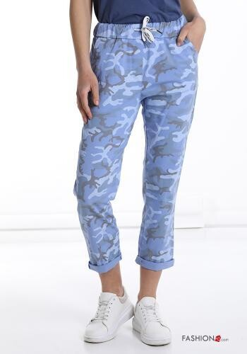 Cotton 'Camouflage' Pants