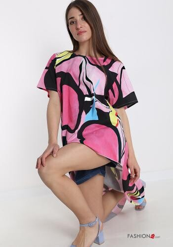 'Limited'PINK PATTER~ENED TUNIC