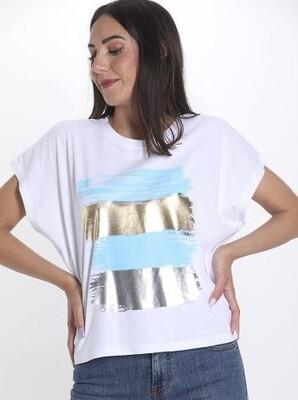 Trio cap sleeve T-shirt