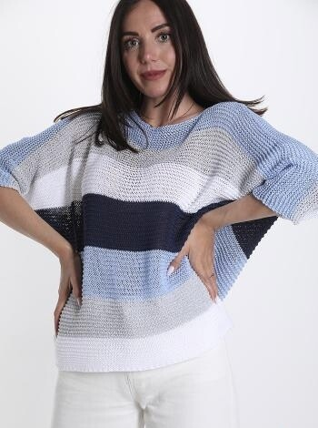 Lurex stripe knit