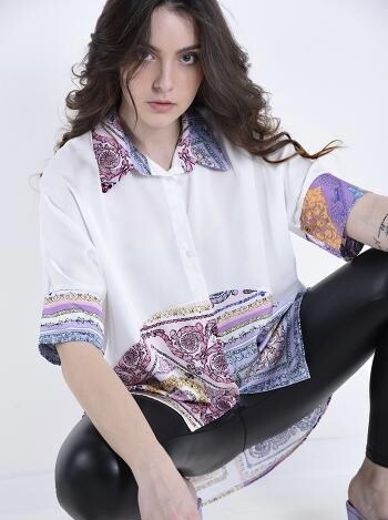 Printed over sized shirt