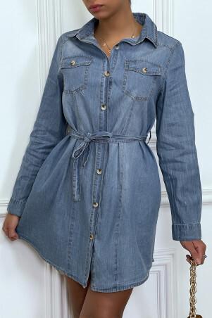 Light jean shirt dress