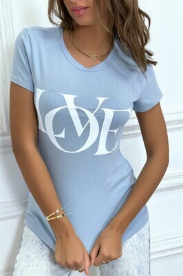 'Love' Powder blue T-Shirt