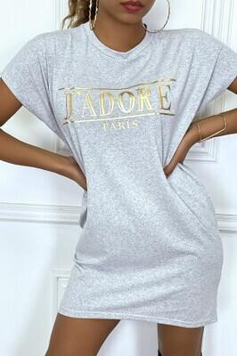 J'Adore grey Long T-shirt