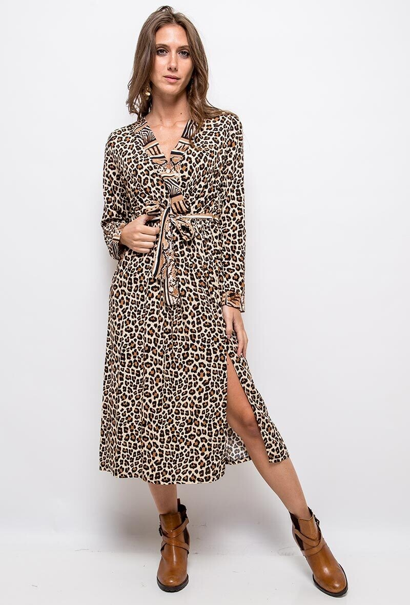 MIDI Leopard print dress
