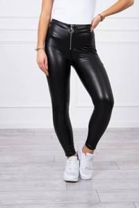 Pleather zipped top leggings