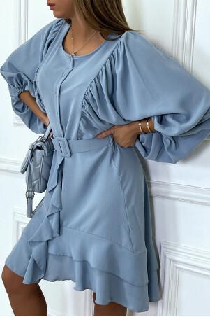 Bella blue flounce Dress