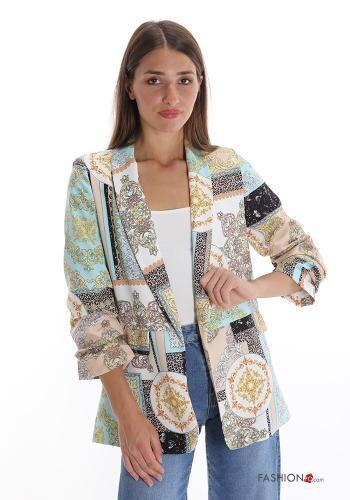 Jacquard print blazer
