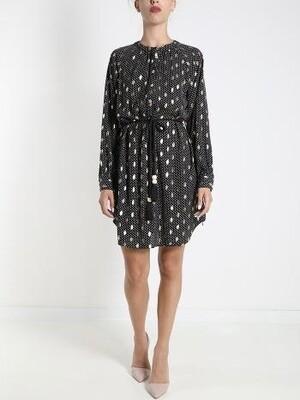 Demi mixed pattern dress