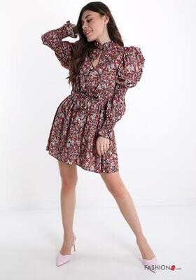 Puff sleeve floral dress