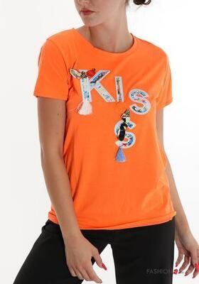 Burst of orange kiss T-shirt