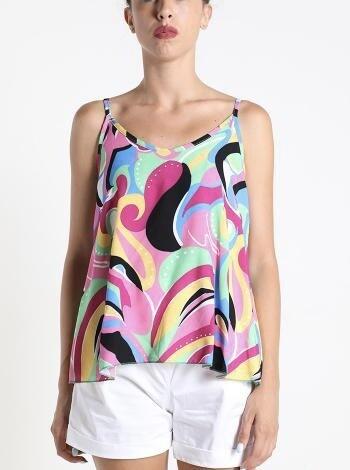 Multicoloured cami