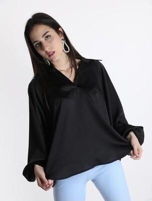 'Best Seller' Black satin blouse