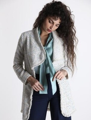 Tweed duster coat