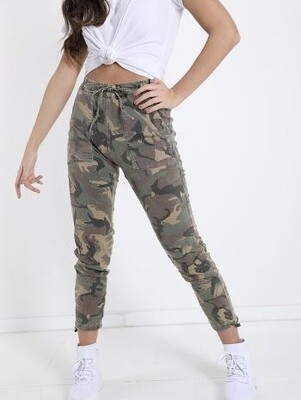 Camouflage stretch joggers