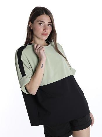Fluo green & black top