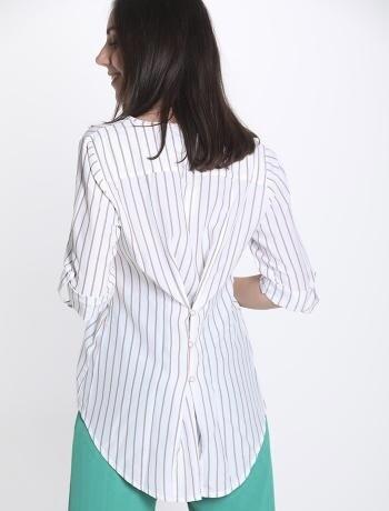 Stripe button back detail