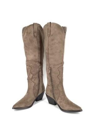 Suede zip boots