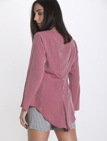 Pink button back