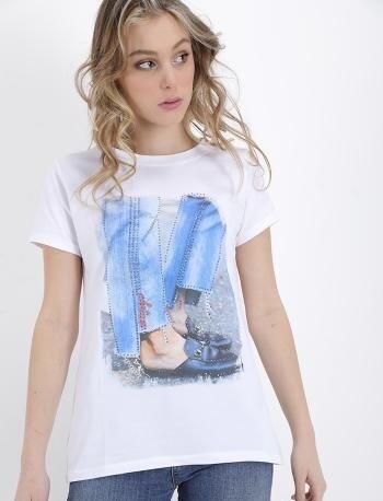 'Rhinestones' Printed T-Shirt