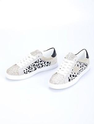 'Star' leopard Print Trainers