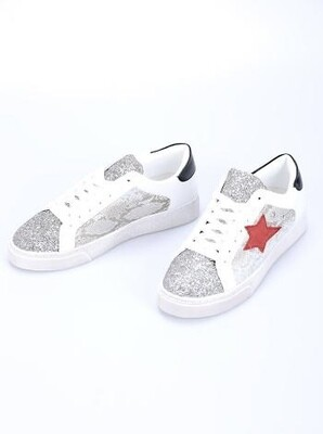 Red star Glitter trainers