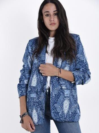 Blue Jean Printed Blazer
