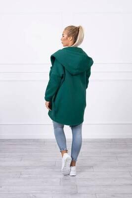 Short zip front sweater coat