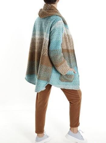 'Ayla'Aqua Wool mix Coatigan