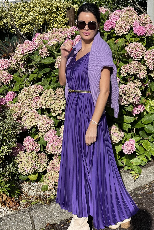 Violet Satin Dress