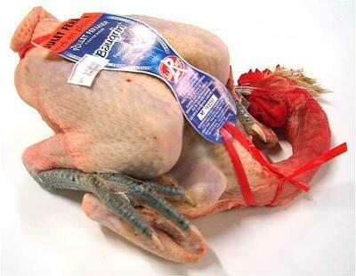 Poulet fermier à patte bleue Label Rouge 9€ le kilo