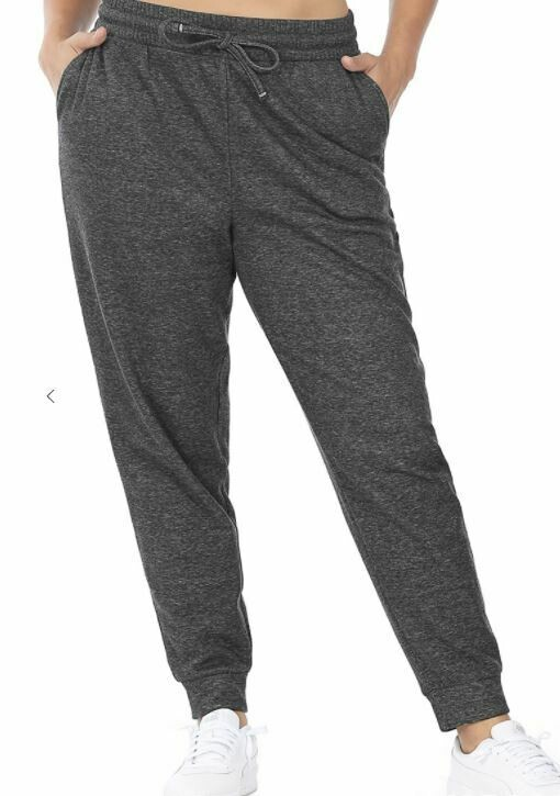 HEATHERED CHARCOAL SWEAT JOGGERS