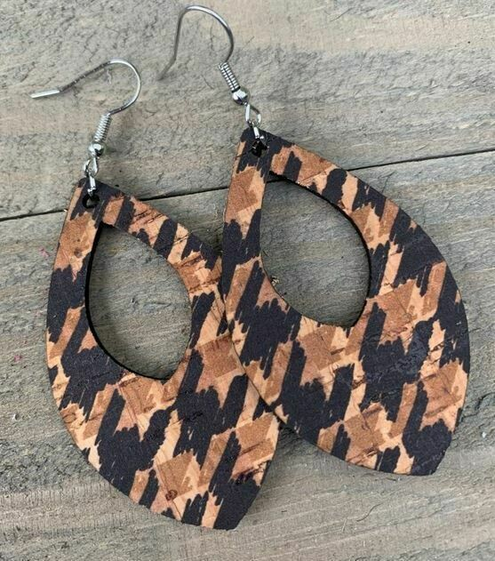 Black/Tan Hounds Tooth