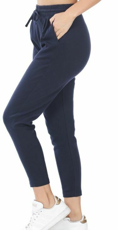 NAVY ANKLE ACTIVE PANT