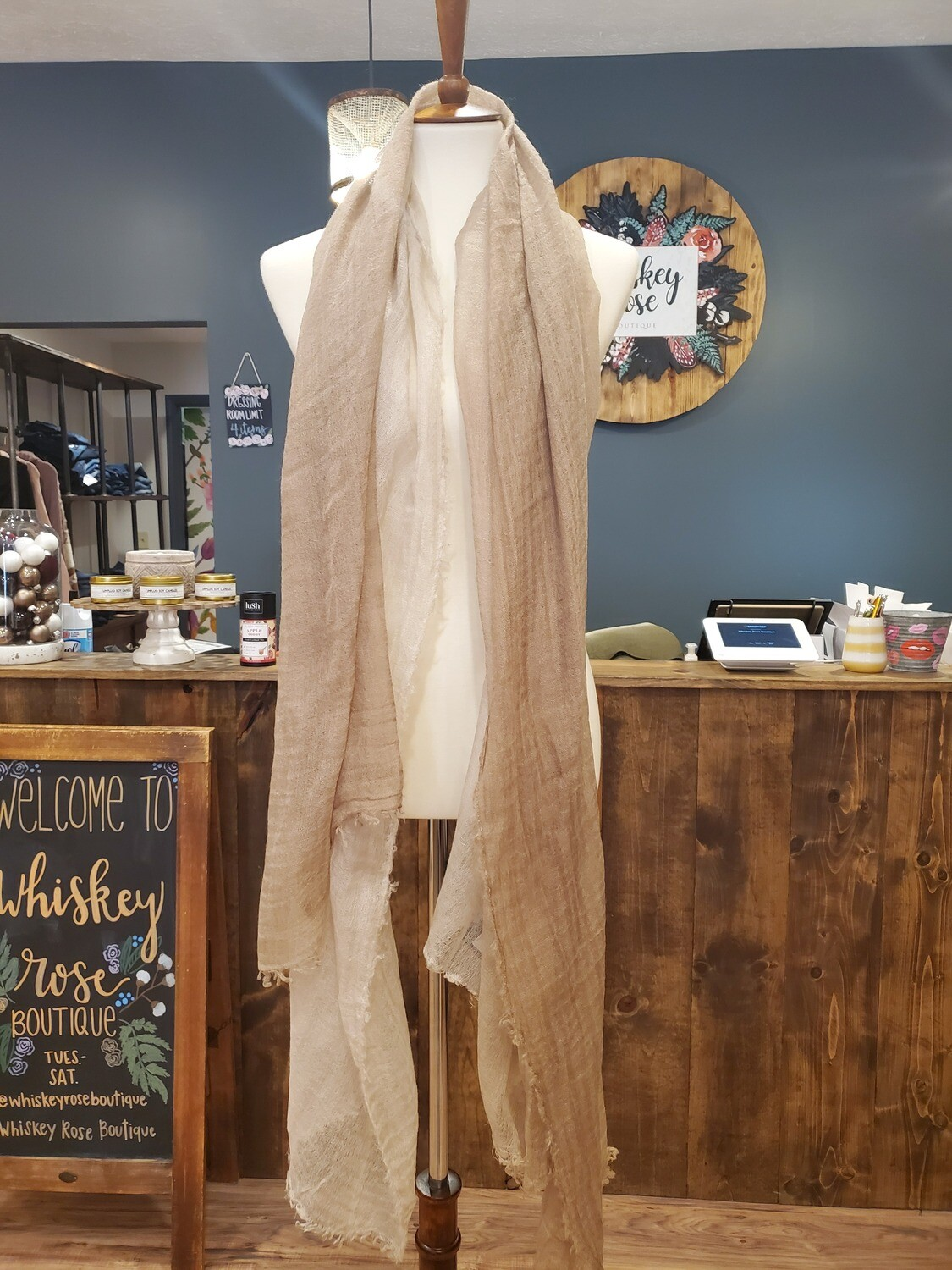 TAN OMBRE SCARF