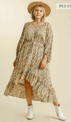 TAN IKAT DRESS