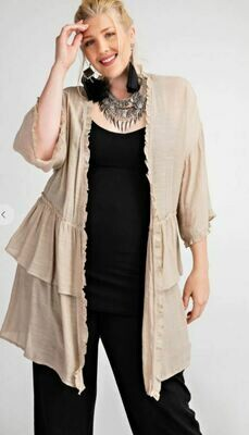 RUFFLE TAUPE DUSTER