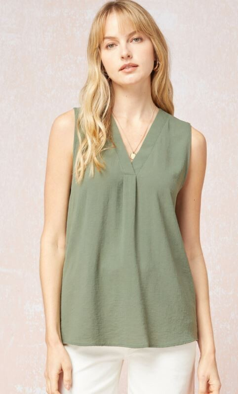 OLIVE SHELL TANK