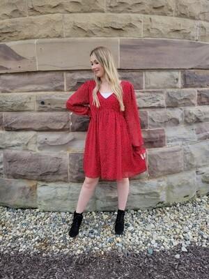 RED OCTOBER DRESS