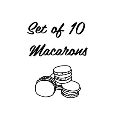Set of 10 Macarons