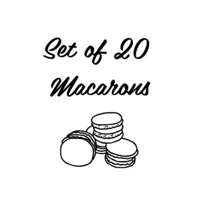 Set of 20 Macarons