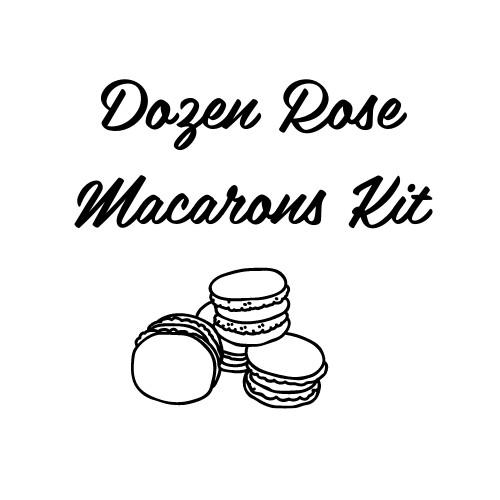 DIY Dozen Rose Macarons Kit
