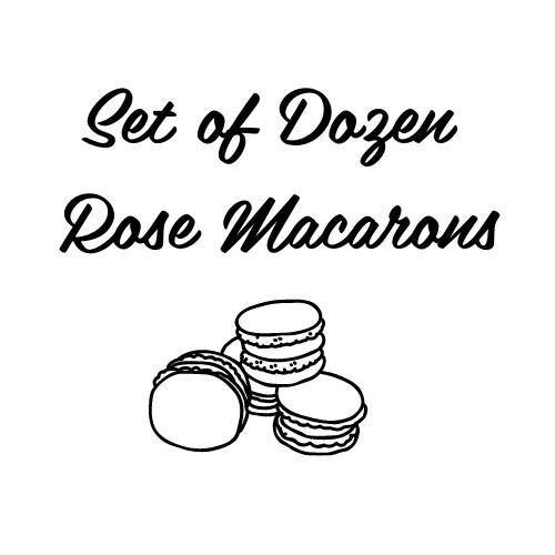 Set of Dozen Rose Macarons