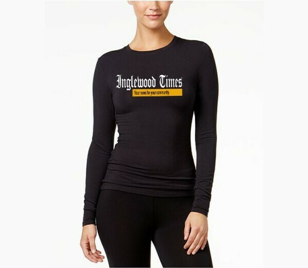 Inglewood Times Women's Black Long Sleeve Shirt