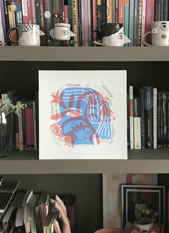Serigrafía Cara y Flor