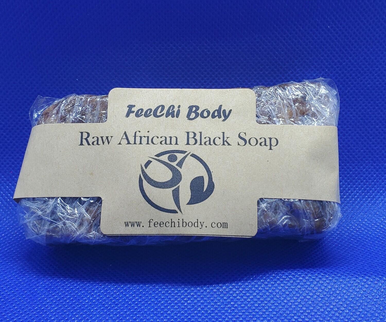 Raw African Black Soap 4 oz