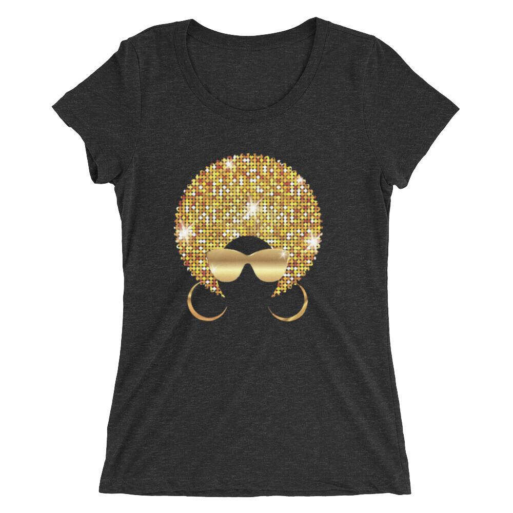 Ladies' Golden Afro short sleeve t-shirt